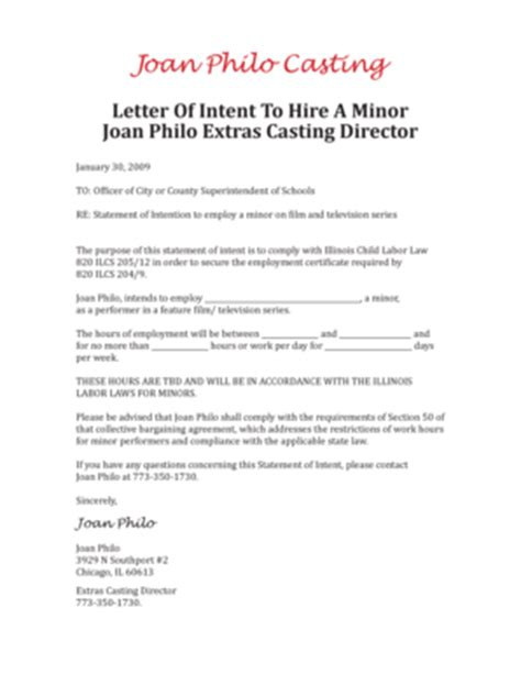 Letter Of Intent To Hire Sle Template Letter Of Intent To Hire 28 Images Letter Of Intent To Hire Levelings Sle Letter Of Intent