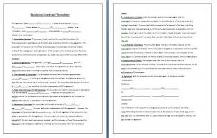 Terms Of Business Agreement Template Contract Templates Guidelines And Templates For Drafting