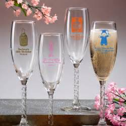 Wedding Favors Chagne Flutes by Twisted Stem Chagne Flutes Wedding Favors 50 Designs