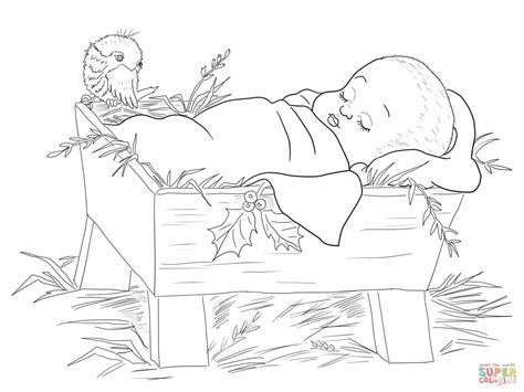 coloring pages jesus in the manger baby jesus in a manger coloring page free printable