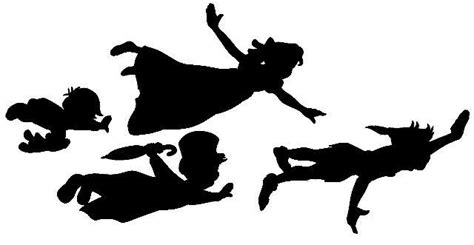 Shaow Clipart Peter Pan Pencil And In Color Shaow Pan Silhouette Template