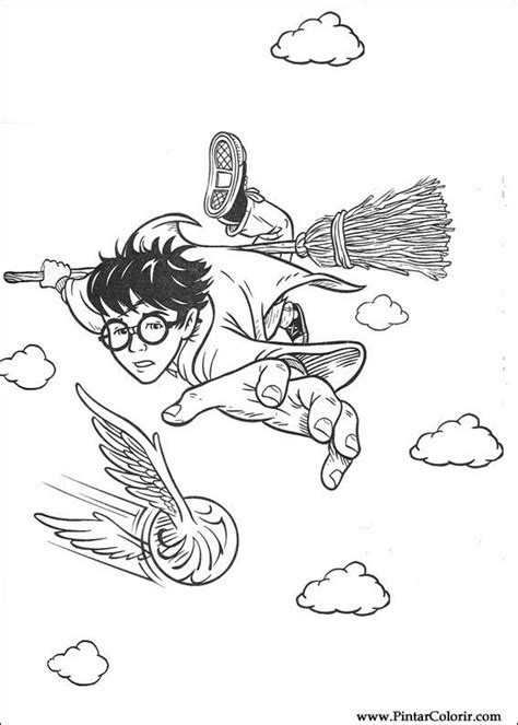 harry potter coloring pages quidditch drawings to paint colour harry potter print design 070