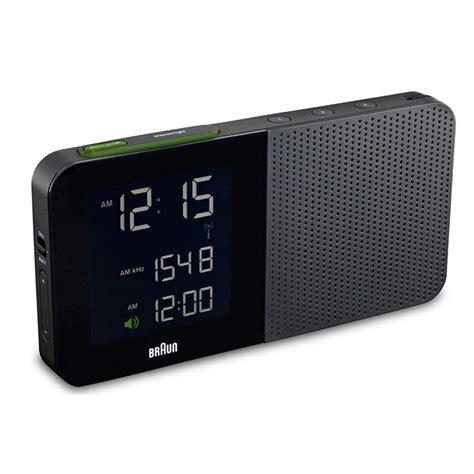 digital alarm clock radio black braun horne