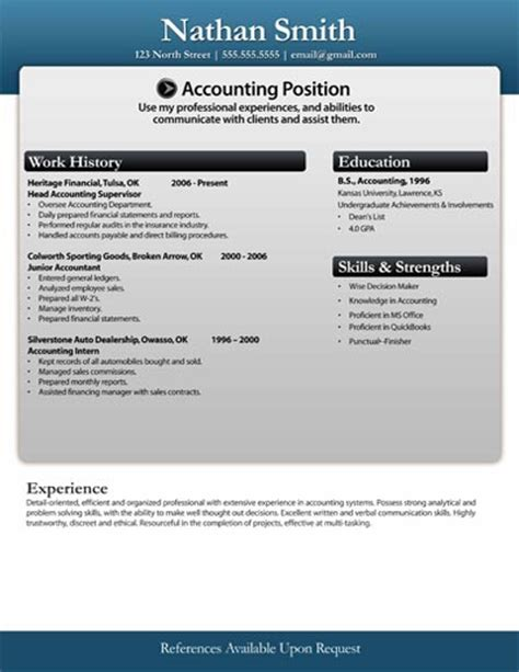 free resume templates microsoft word resumes