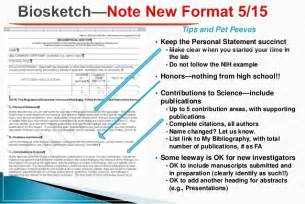 sle of new nih biosketch tips to write a biosketch