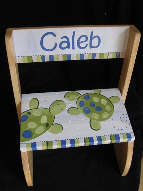 Personalized Step Stool Chair by Personalized Chair Step Flip Stool Turlte By