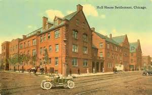 postcard chicago hull house settlement note with
