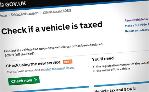 car tax check are you exempt from paying road tax 2018 what are the new rates cars life without a tax disc how can i check that my vehicle is still taxed