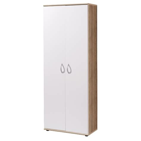 White Office Cabinet With Doors Savina Home Office Cabinet In White With 2 Doors For 163 229