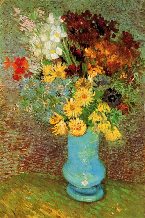 Vase With Flowers Gogh by Artists Vincent Gogh Flowers Part 2