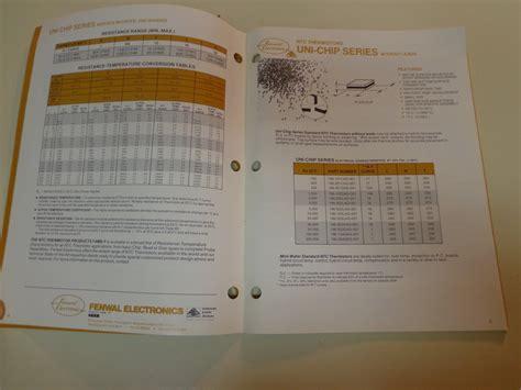 ptc thermistor standard fenwal electronics ntc ptc thermistor standard products catalog 1985 ebay