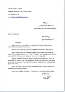 Lettre De Motivation Lettre De Présentation Translation Lettre De Motivation Employment Application