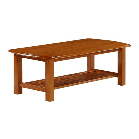 Honey Oak Coffee Table Shop Day Furniture Standard Honey Oak Rectangular Coffee Table At Lowes