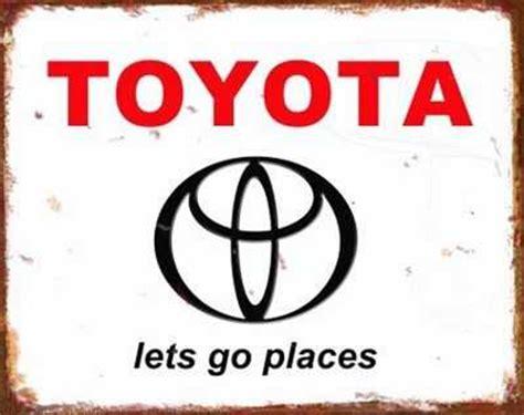 Toyota Sign In Toyota Retro Tin Sign Mainly Nostalgic Retro Tin Signs