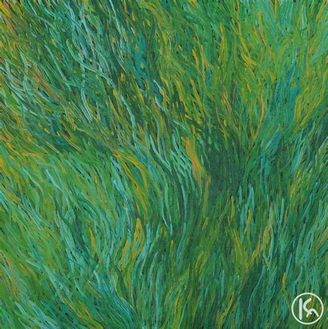 acrylic paint grass grass seeds by barbara weir from utopia central australia