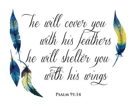he will cover you with his feathers psalm 91 4 seeds