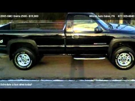 2005 gmc sierra 2500 pickup 2d 8 ft for sale wilson auto sales youtube