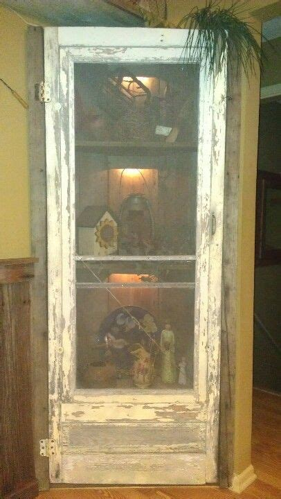 corner shelf   screen door vintage doors