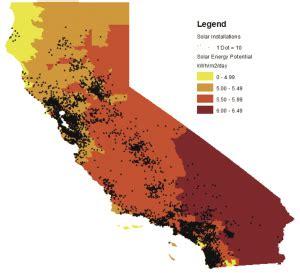 california solar map california solar map california map