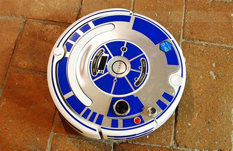 Minimalist Apartment see a roomba turn into r2d2 with this creative decal set