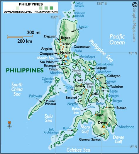 map usa to philippines philippines maps free printable maps