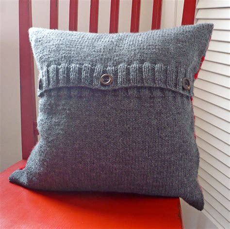 easy knit cushion cover xs and os pillow cover knitting bee