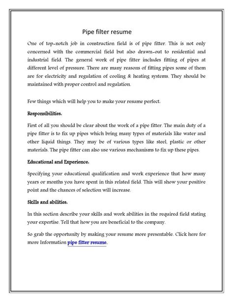 pipefitter cover letter 65 best images about sle resume on