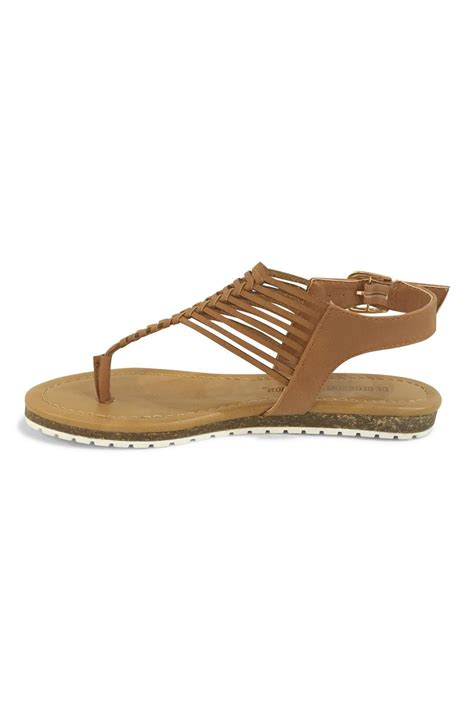 brown gladiator sandals de blossom collection brown gladiator sandal from montana