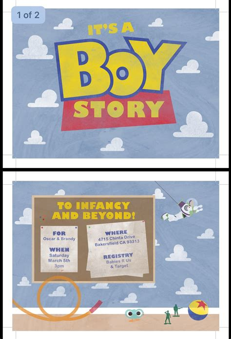 Baby Shower Story by It S A Boy Story Baby Shower Invitation Ordered From
