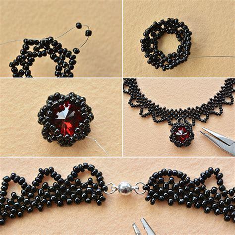 black seed bead necklace handmade vintage black seed bead choker necklace carol s