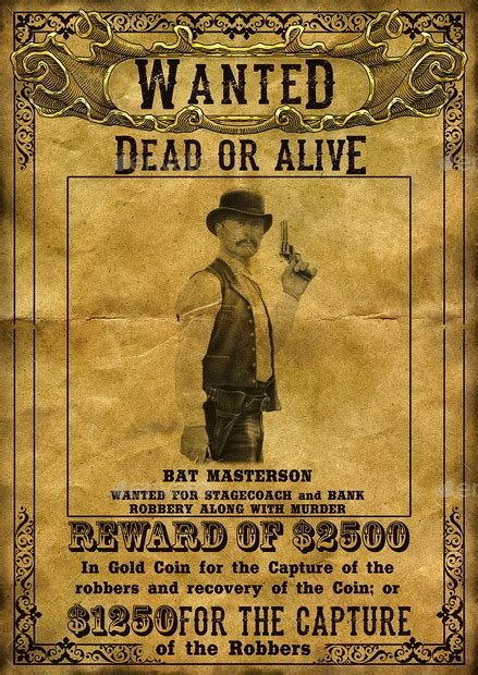 wild west wanted poster by addichim graphicriver
