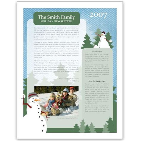 newsletter layout doc christmas newsletter templates download free premium