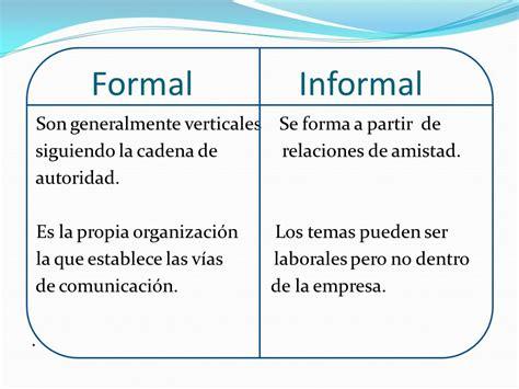 la carta formal e informal diferencias comunicaci 211 n formal e informal ppt descargar