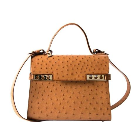 delvaux tempete bag ostrich gold at 1stdibs