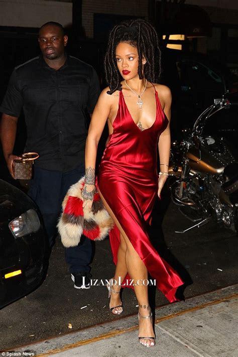 Dress Rihanna rihanna inspired satin v neck prom