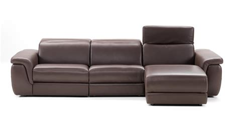 leather sofa with footrest lounge style brown contemporary sectionals set baltimore