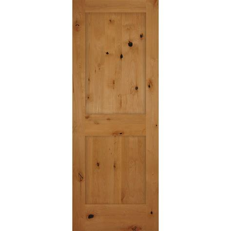 Builder S Choice 30 In X 80 In 2 Panel Shaker Solid Core Prehung Solid Wood Interior Doors