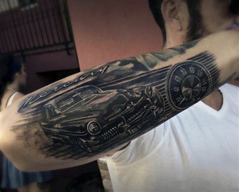 vintage sleeve tattoo designs picture of retro car design