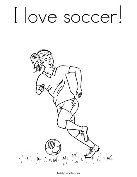 coloring pages of girl soccer players i love soccer coloring page twisty noodle