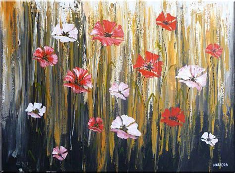 original abstract original abstract painting with flowers by nataera from