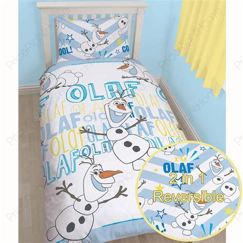olaf bedding disney frozen duvet quilt covers bedding anna elsa olaf ebay
