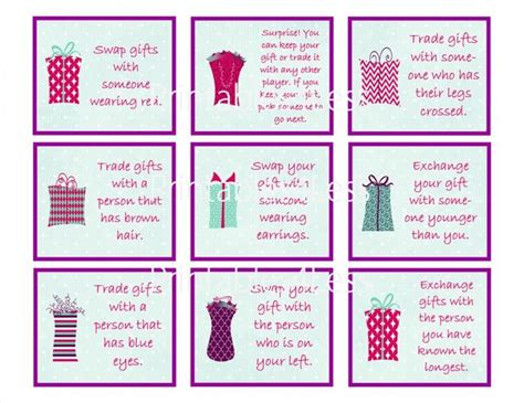 12 days of christmas gift swapping game gift exchange fishwolfeboro