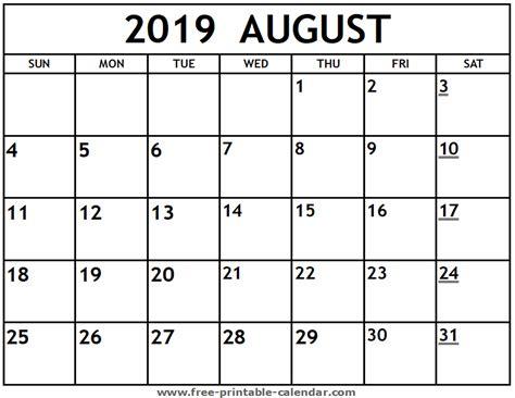 printable august calendar printable calendarcom