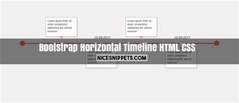 html layout snippets horizontal timeline design using html css and bootstrap