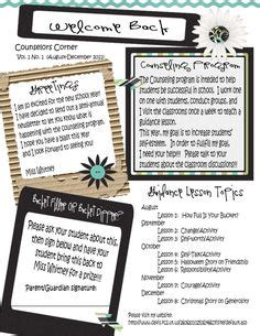1000 Images About Counseling Newletters On Pinterest Monthly Newsletter Template Counseling Free Newsletter Templates For School Counselors