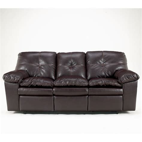 San Marco Sofa by San Marco Durablend Burgundy Reclining Sofa By Signature