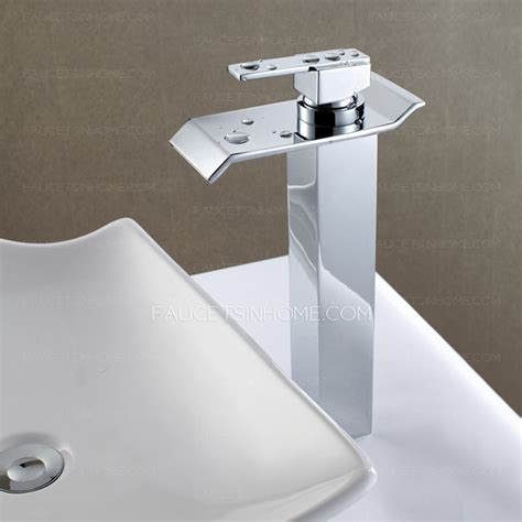 bathroom sink outlet modern large waterfall outlet vessel mount bathroom faucet