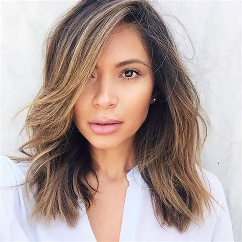 medium haircuts lob 13 hair instagram accounts every editor follows hair inspiration hair makeup and makeup