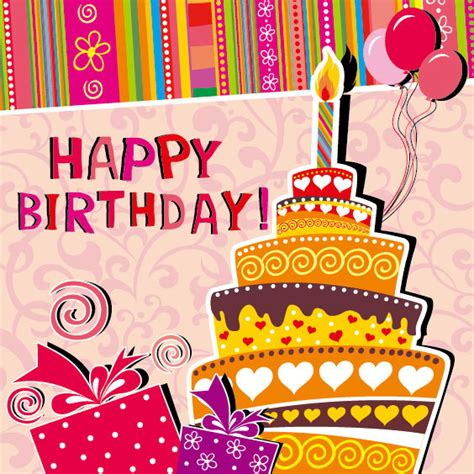 happy birthday card design vector illustration happy birthday cards design free vector download 15 127