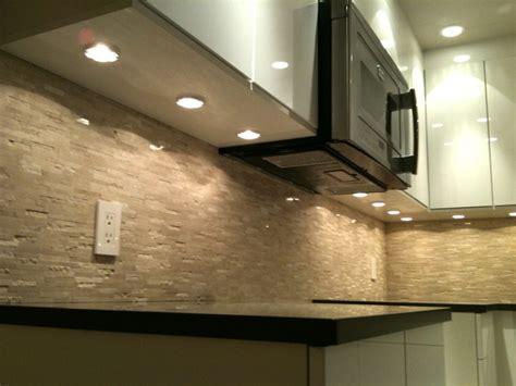 puck lights microwave fan modern kitchen vancouver